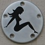 Mud flap girl inlaid
